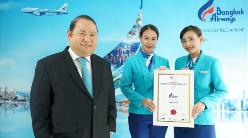 บางกอกแอร์เวย์ส คว้ารางวัล Thailand Best Employer Brand Awards 2020