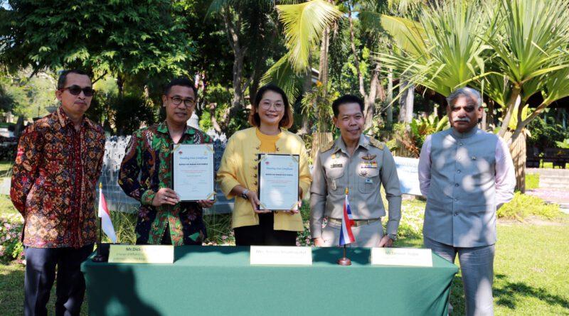 อุทยานหลวงราชพฤกษ์ ลงนามรับมอบแบบจำลองเจดีย์บุโรพุทโธจัดแสดงภายสวนประเทศอินโดนีเซีย